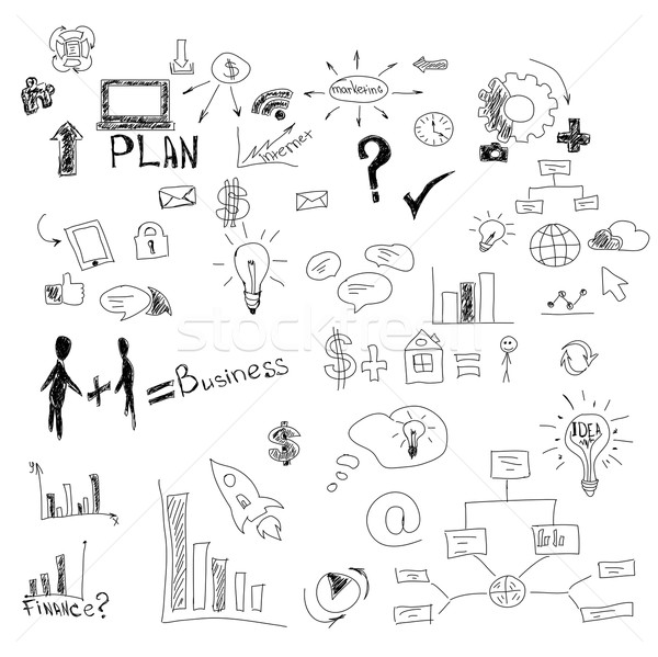 Stock photo: Graphical symbols on white. Vector illustration