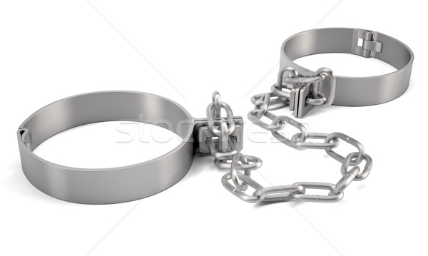 Rendered handcuffs. 3d rendering Stock photo © cherezoff