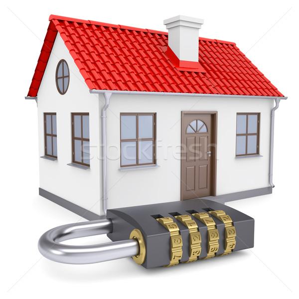 Combination lock locks the house Stock photo © cherezoff