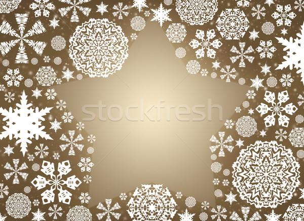 Christmas frame Stock photo © cherezoff