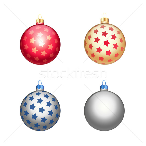 Multicolour christmas balls Stock photo © cherezoff
