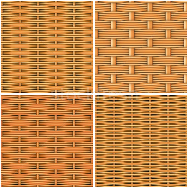 Collection of woven wood Stock photo © cherezoff