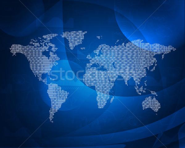 Mapie świata streszczenie świat technologii przestrzeni Zdjęcia stock © cherezoff