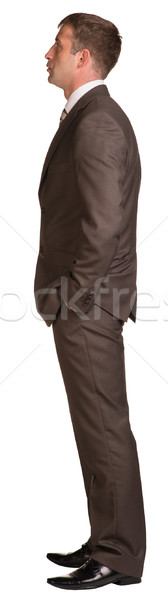 Businessman stands in half-turn Stock photo © cherezoff