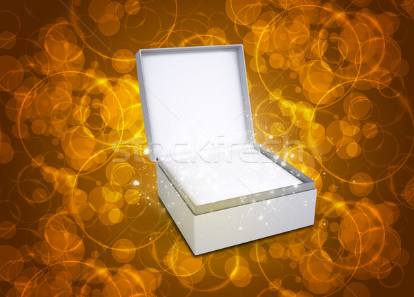 Jewelry box with magical circles Stock photo © cherezoff
