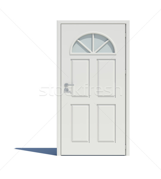 Closed white door with shadow Stock photo © cherezoff