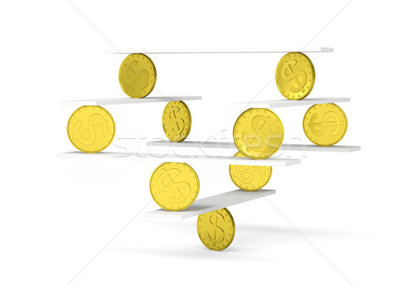Financial balance with gold coins  Stock photo © cherezoff