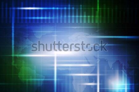 зеленый синий двоичный код черный темно компьютер Сток-фото © cherezoff