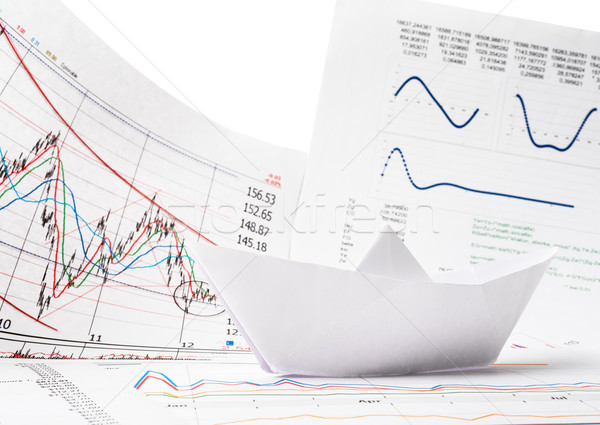 Business concept of paper boat Stock photo © cherezoff