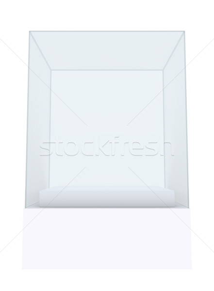 Stock photo: Empty glass showcase for exhibit