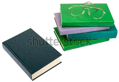 Two books with blank covers isolated on white Stock photo © cherezoff