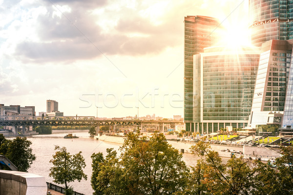 The architectural complex of Moscow-City Stock photo © cherezoff