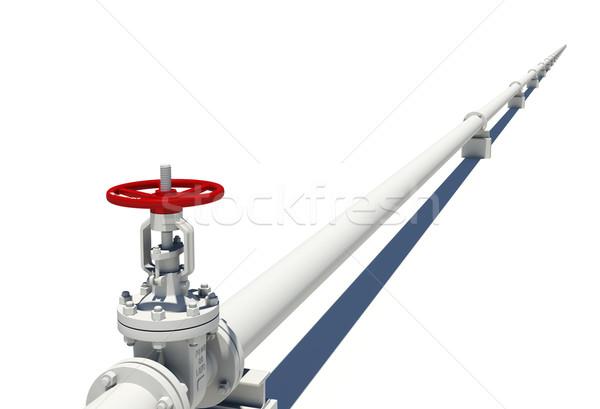 White pipe with valve Stock photo © cherezoff