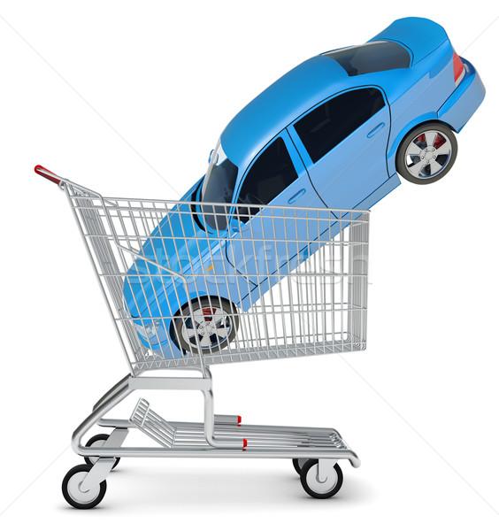 Car in shopping cart Stock photo © cherezoff