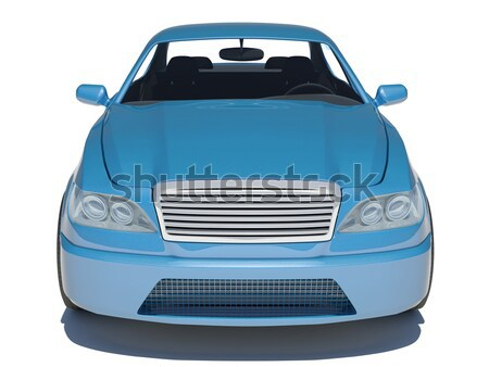 Humans hand with keys and blue car Stock photo © cherezoff