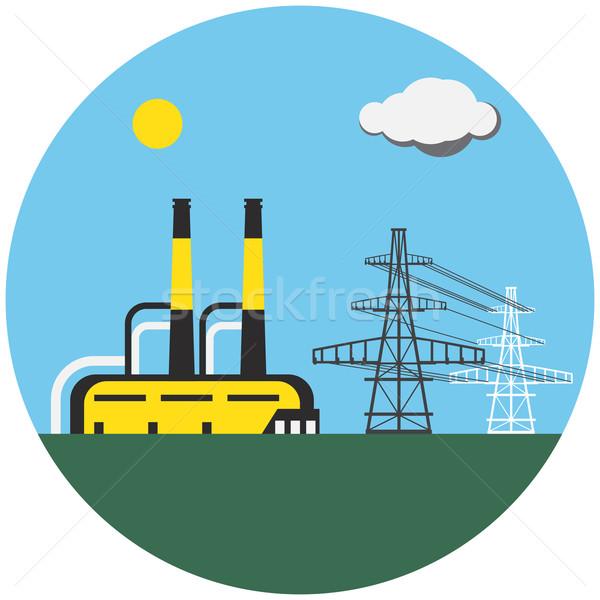 Colorato fabbrica elettrici foto industriali Foto d'archivio © cherezoff
