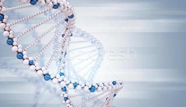 DNA molecule on blue Stock photo © cherezoff