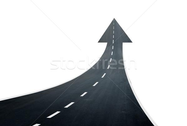Road going up llike arrow Stock photo © cherezoff
