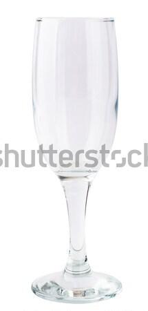 Empty champagne glass Stock photo © cherezoff