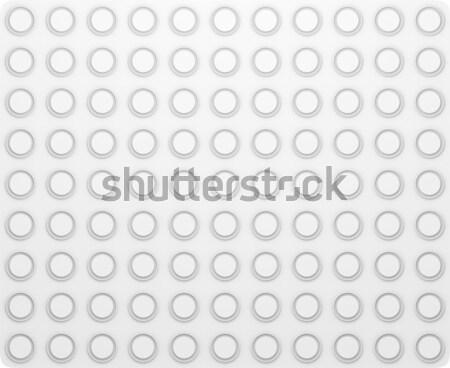 регулярный текстуры кольцами белый поверхность 3d иллюстрации Сток-фото © cherezoff