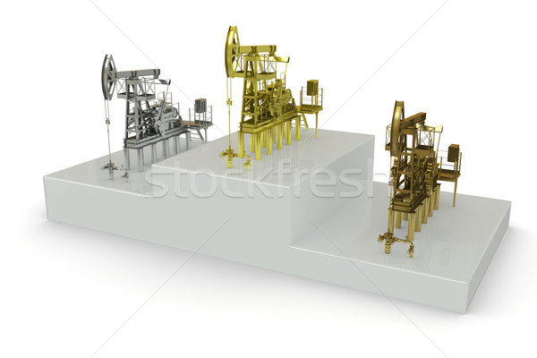 Wells - winners of 'the biggest oil production' Stock photo © cherezoff