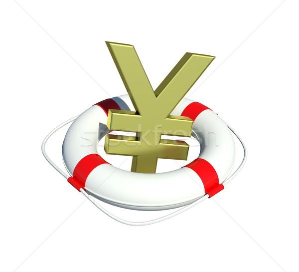 Yen segno isolato bianco soldi sfondo Foto d'archivio © cherezoff
