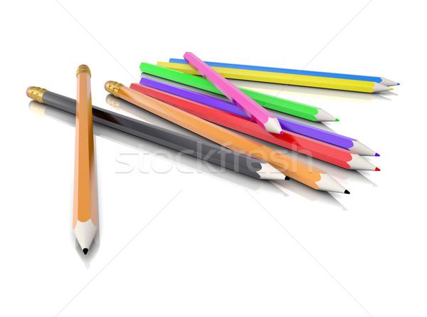 Colored pencils Stock photo © cherezoff