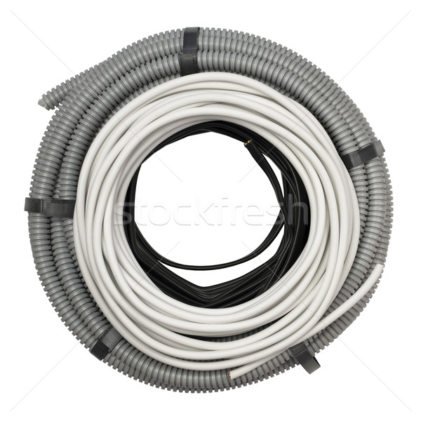 Flexible hose and electric cable Stock photo © cherezoff