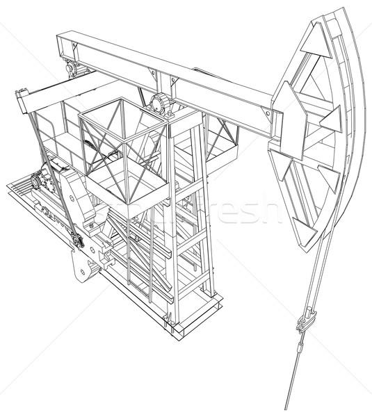Olio pompare vettore 3D dettagliato Foto d'archivio © cherezoff
