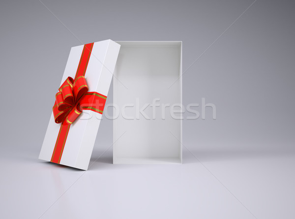 Open gift box with lid Stock photo © cherezoff