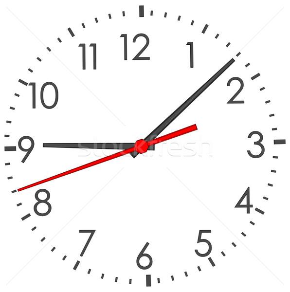Clock face on white Stock photo © cherezoff
