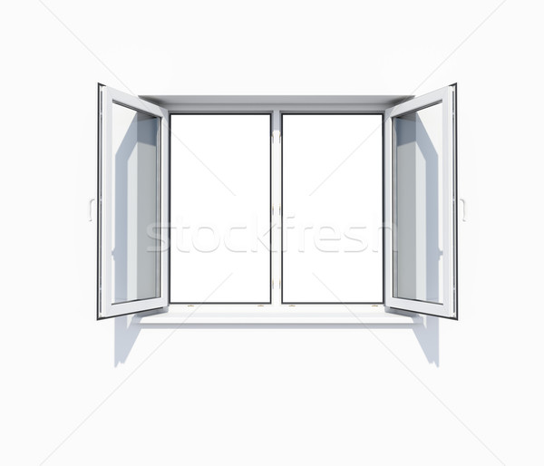 Clean white wall with opened window Stock photo © cherezoff
