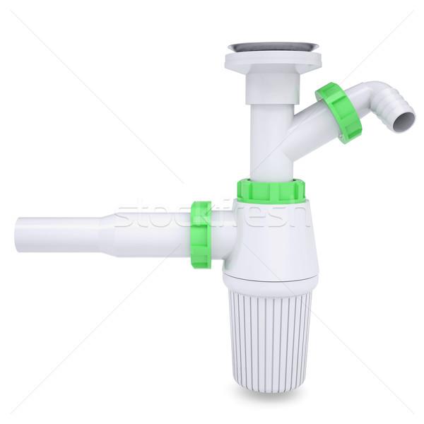 белый изолированный оказывать воды строительство дизайна Сток-фото © cherezoff