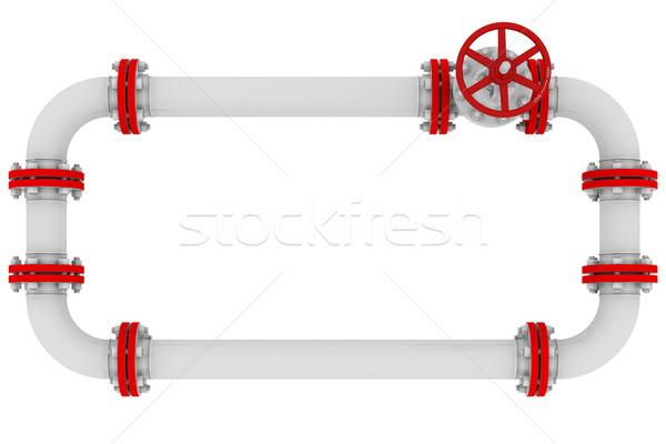 баннер Трубы изолированный оказывать белый фон Сток-фото © cherezoff