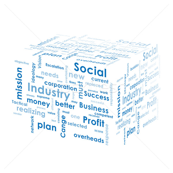 ボックス ビジネス 単語 孤立した 白 お金 ストックフォト © cherezoff
