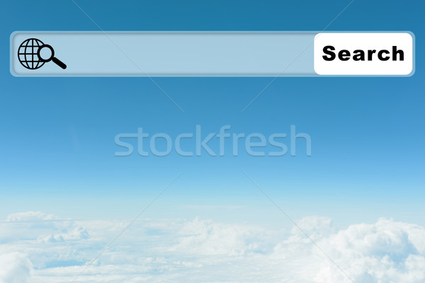 Kék ég böngésző felhők égbolt absztrakt Stock fotó © cherezoff