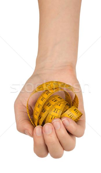 Braço fita métrica topo ver isolado Foto stock © cherezoff