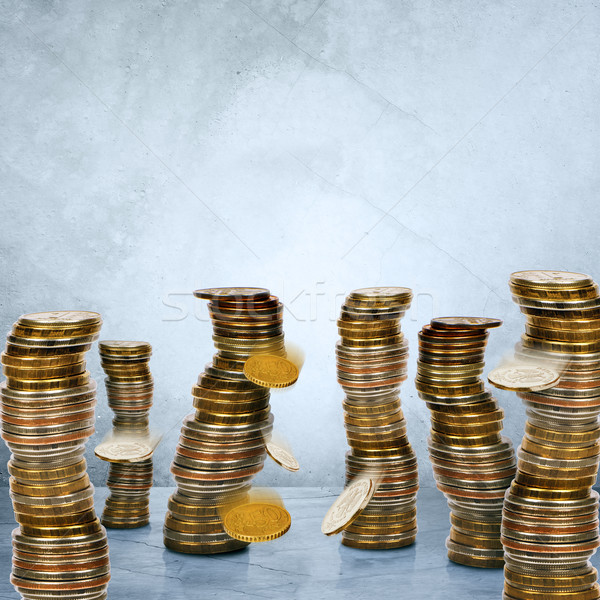 Falling stack of coins  Stock photo © cherezoff