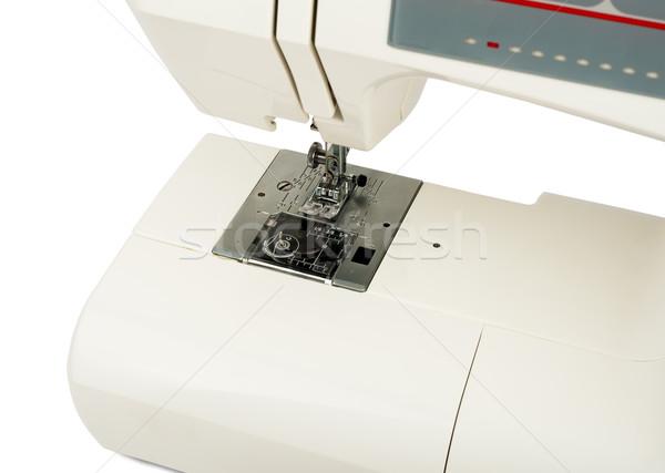 швейные машины монохромный белый изолированный работу дизайна Сток-фото © cherezoff