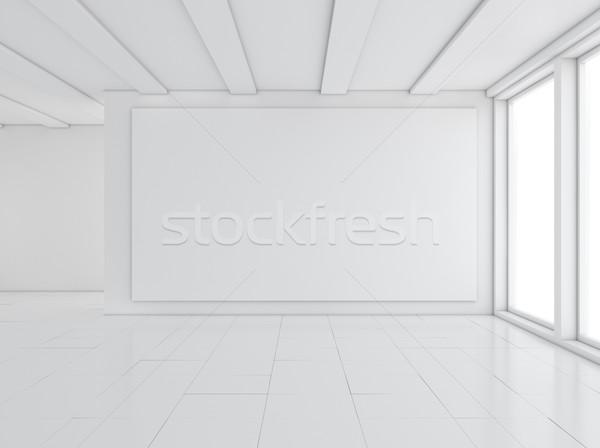 空っぽ ギャラリー インテリア 光 窓 3次元の図 ストックフォト © cherezoff