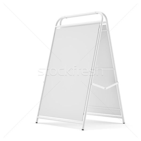 Calçada isolado branco ilustração 3d quadro espaço Foto stock © cherezoff