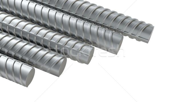 Foto stock: Aço · ilustração · 3d · branco · construção · industrial · arquitetura