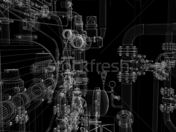産業 レンダー 孤立した 黒 ストックフォト © cherezoff