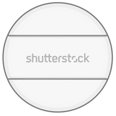 Cerchio 3D bianco Foto d'archivio © cherezoff