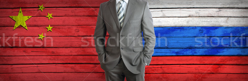 Concept of business between Russia and China Stock photo © cherezoff