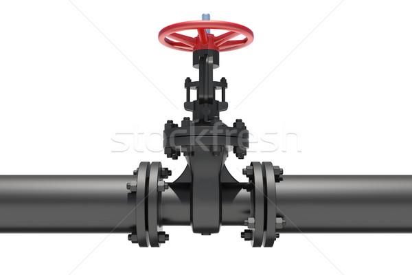 Modelo válvula tubo isolado branco metal Foto stock © cherezoff