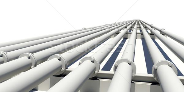 çok borular mesafe yalıtılmış endüstriyel Stok fotoğraf © cherezoff