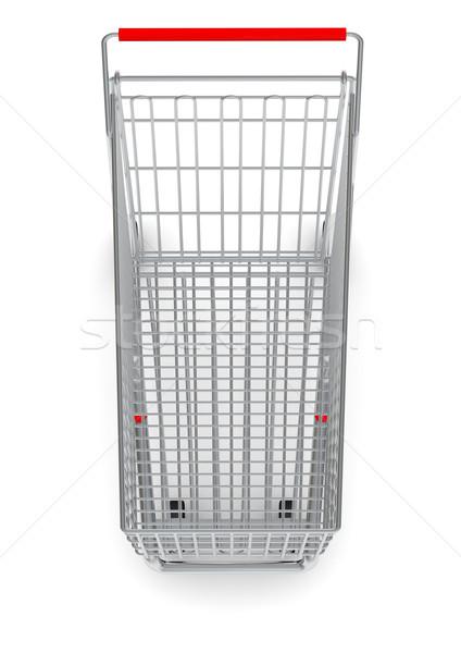 Top winkelwagen Rood behandelen kopen Stockfoto © cherezoff