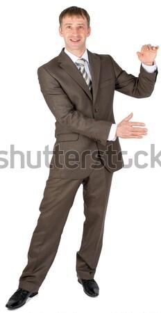 Férfi üres hely üzletember izolált fehér iroda Stock fotó © cherezoff