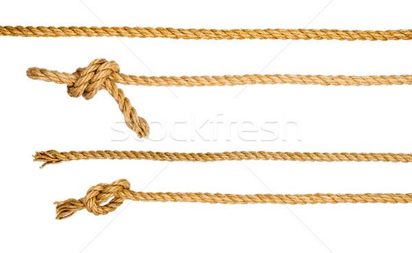 Nave corde nodo isolato bianco primo piano Foto d'archivio © cherezoff
